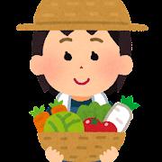 農家の女の子のイラスト(将来の夢)