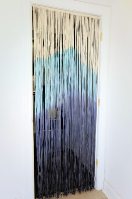 dip dyed cotton clothesline string curtain