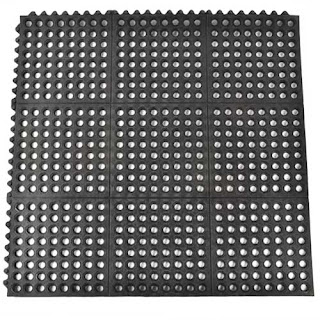 Greatmats Ring Mats rubber interlocking mats perforated