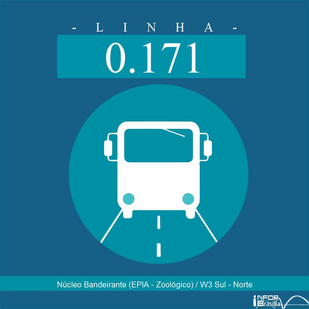 Horário de ônibus e itinerário 0.171 - Núcleo Bandeirante (EPIA - Zoológico) / W3 Sul - Norte