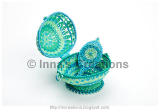 Quilled Easter egg, mirror reverse side
