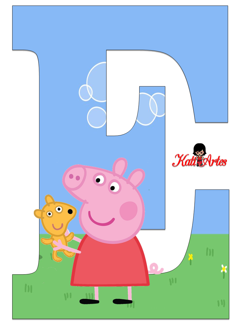 Alfabeto De Peppa Pig Y Perrito 2 Oh My Alfabetos