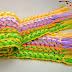 Como hacer Bufandas con Telar  Espiga-Cruzada