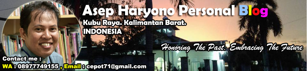 Banner of Asep Haryono Personal Blog - Indonesia