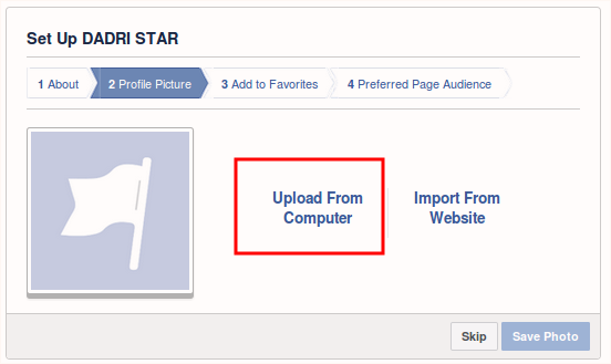 how to create fb page