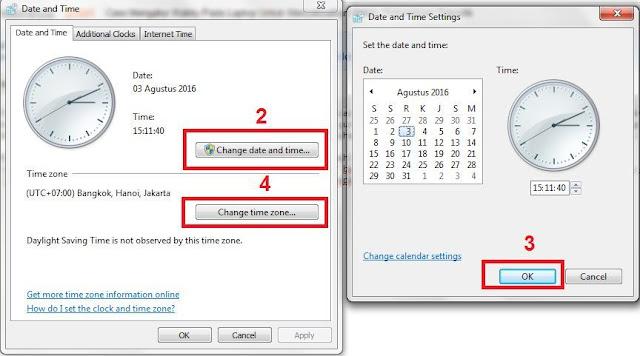 gambar panduan pengaturan waktu di komputer