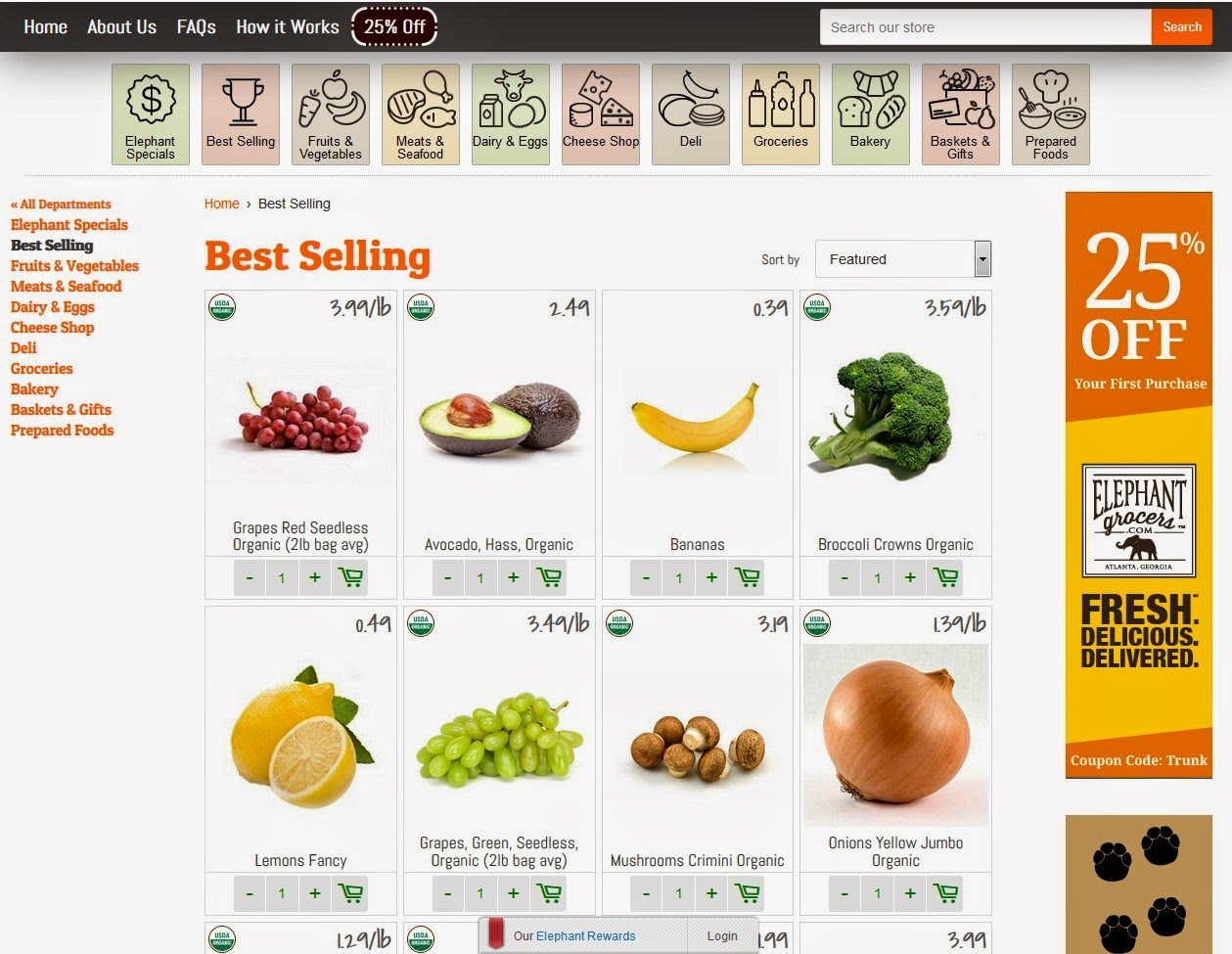 Grocery Delivery Service in Metro #Atlanta Area- ElephantGrocers.com Review via www.productreviewmom.com