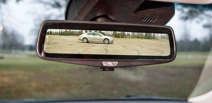 2016 Cadillac CT6 Replaces Traditional Rearview Mirror