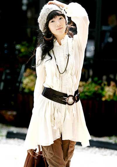 Model Baju Wanita Ala Korea Lengan Panjang Terbaru