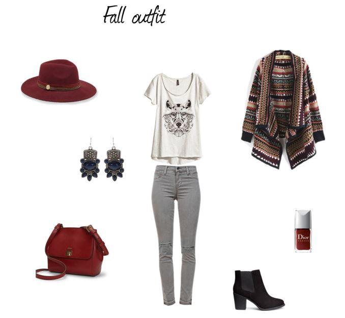 jesienna stylizacja, etno, marsala outfit, stylizacja na jesień, moda, blog modowy