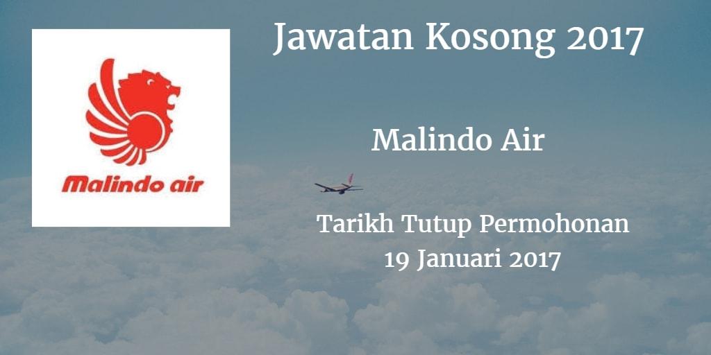 Jawatan Kosong Malindo Air 19 Januari 2017