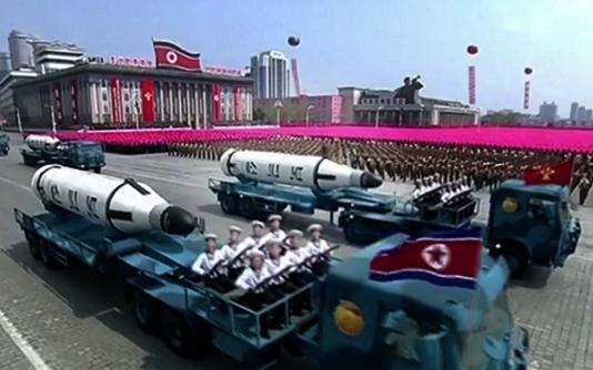 jenis rudal nuklir korea utara yang dipamerkan