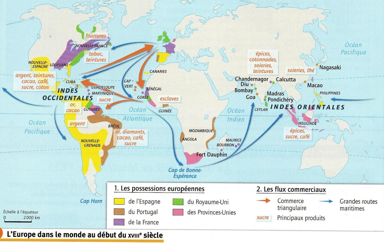 l'expansion européenne au 18ème siècle 4ème
