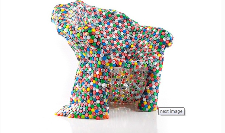 Recycled Bottle Caps Chair - Recycling Center