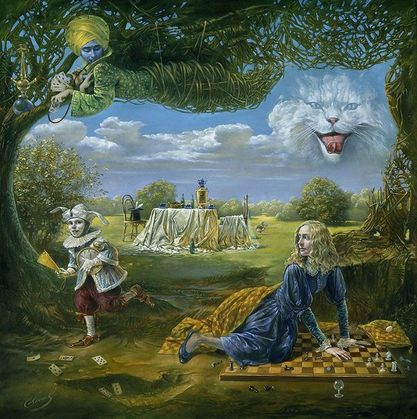 12-wake-up-call-in-wonderland-Michael-Cheval-Surreal-Paintings-that-Draw-inspiration-from-The-East-and-West-www-designstack-co