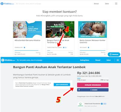 Cara Donasi Di Kitabisa.com