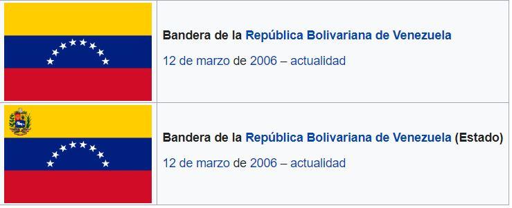 Histórico y evolución de la bandera de Venezuela. Primera bandera de Venezuela.
