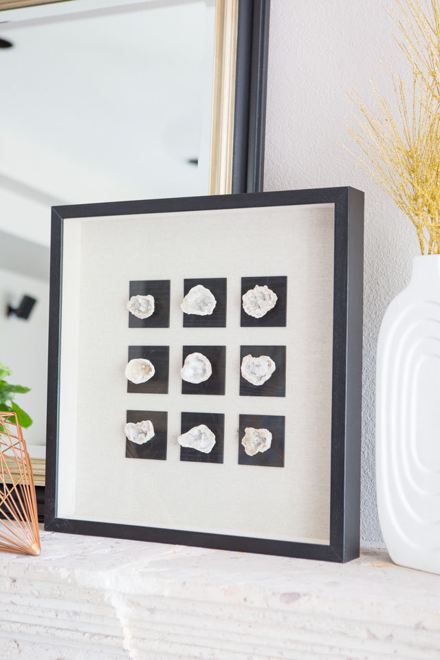 Love this geode shadow box art from Hayneedle!