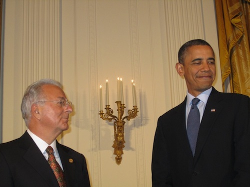 Federico Faggin and Barak Obama