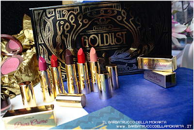 lipstick rossetti RECENSIONE diva crime goldust collection Nabla cosmetics