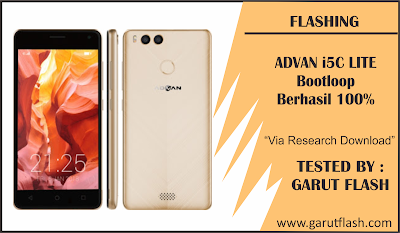 Cara Flash Advan I5C Lite Bootloop Via Research Download 100% Tested