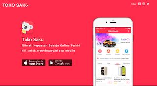 Belanja barang keinginan anda hanya Rp 1000, Mau ? Buruan Download Aplikasi Toko Saku Sekarang Juga