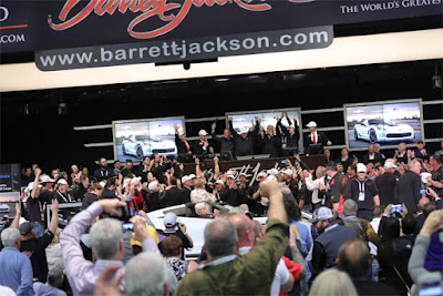 At Barrett-Jackson, General Motors and Chevrolet offered two first retail production Corvette models for auction.