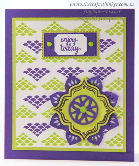 #thecraftythinker  #stampinup  #cardmaking  #stepstamping  #easternmedallion , Eastern Medallion, Eastern Beauty, step stamping, Stampin' Up Australia Demonstrator, Stephanie Fischer, Sydney NSW