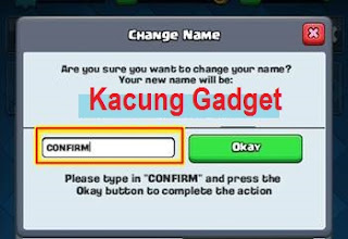 Change Name Account Clash Royale