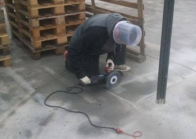 Head safety at work