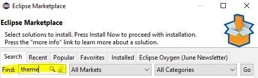 Eclipse Tema Değiştirme