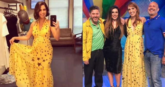 Vestido amarelo da Thalita Rebouças e Poliana Abritta