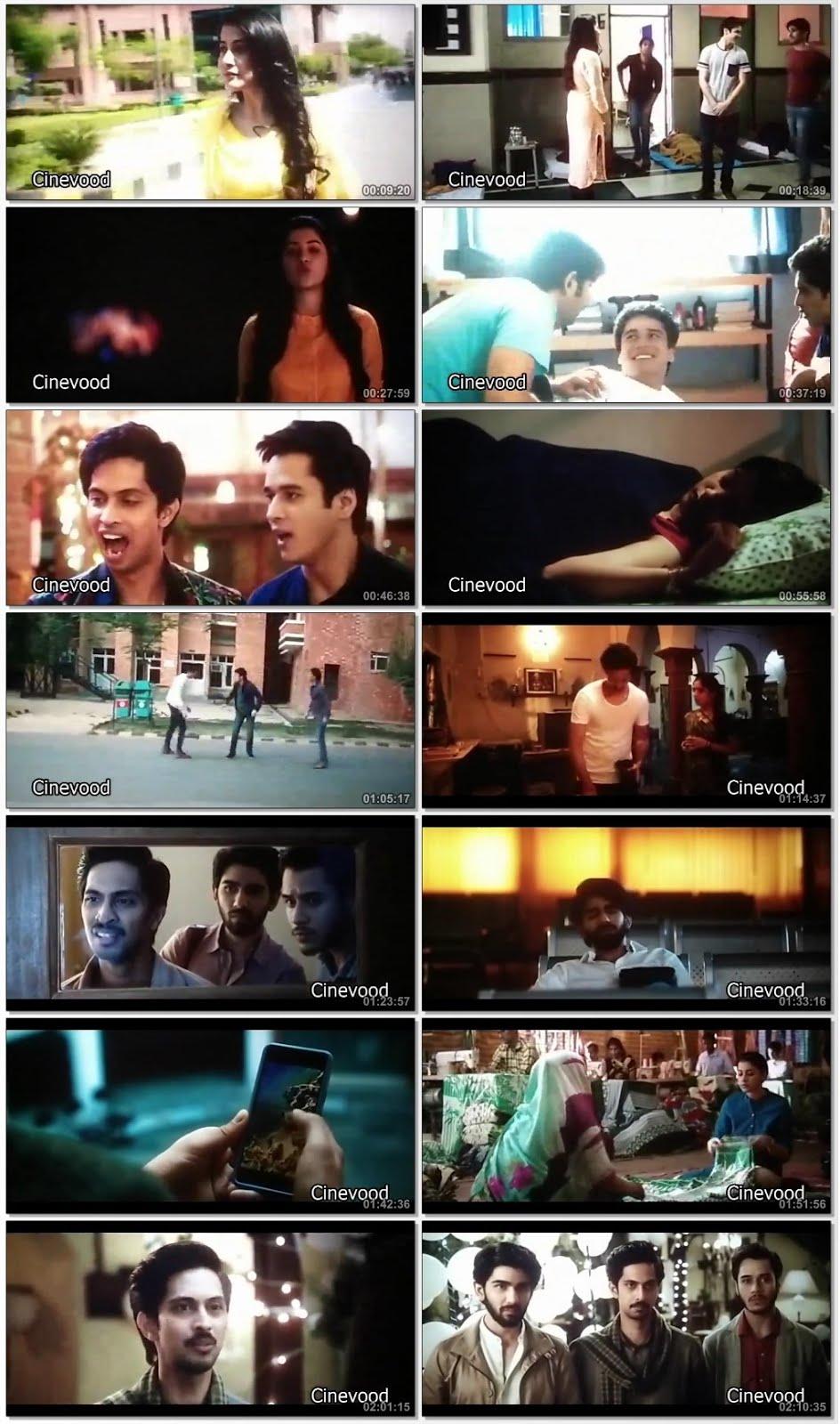 Screen Shot Of Hum chaar 2019 300MB Pdvd Full Hindi Movie Watch Online Free Download