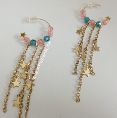 handmade swarovski earrings forest green and pink