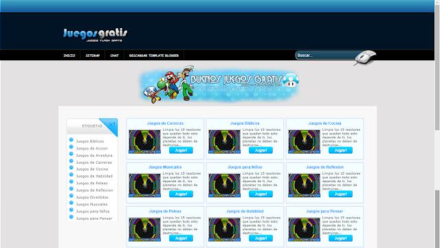 Template Blogger Juegos Gratis