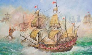 El galeón HMS Revenge de Sir Francis Drake