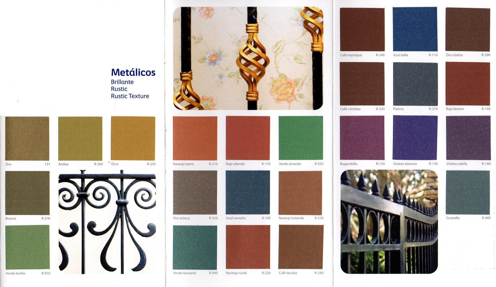 Regio protectores muestrario de colores - Pinturas para metal ...