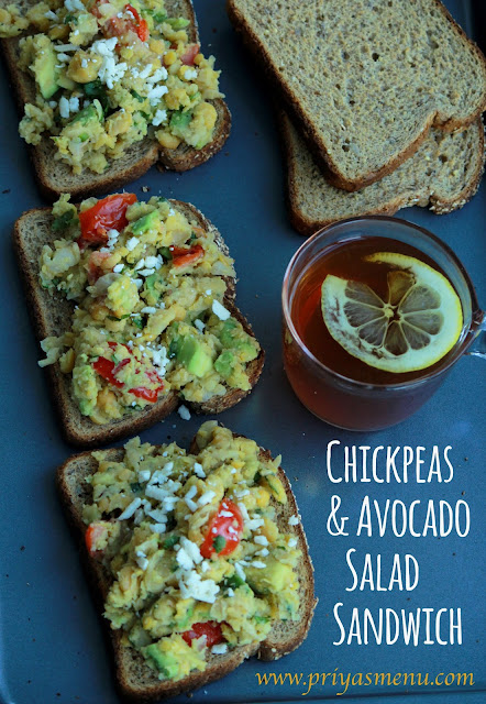 Chickpeas & Avocado Salad Sandwich
