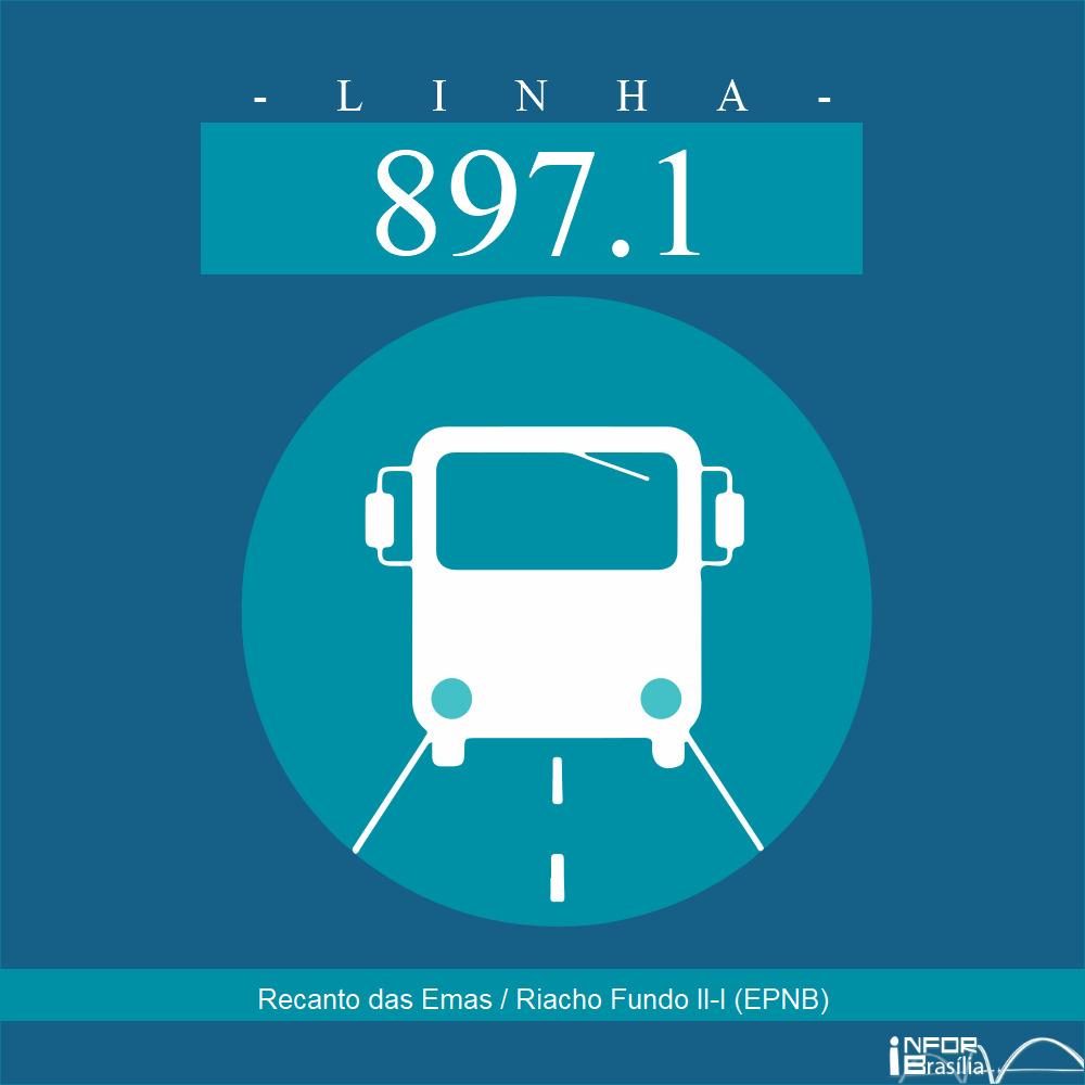 Horário de ônibus e itinerário 897.1 - Recanto das Emas / Riacho Fundo II-I (EPNB)