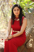 Telugu Actress Zahida Sam Latest Pos in Red Gown at RF Films New Movie Opening  0323.JPG