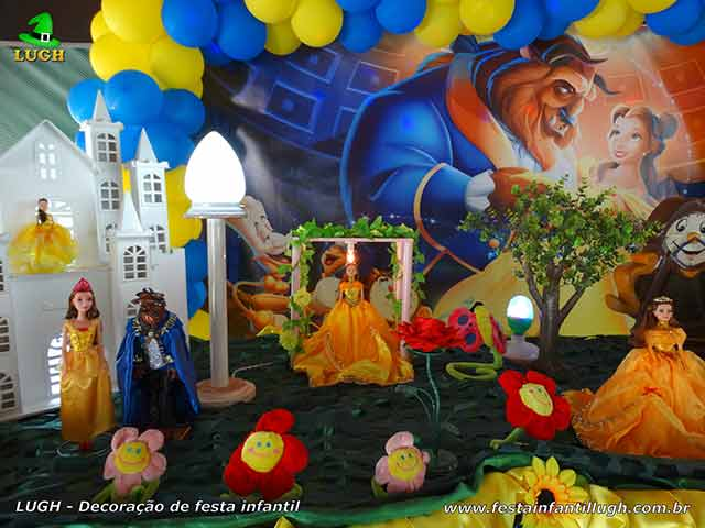 Ornamentação de festa infantil A Bela e a Fera