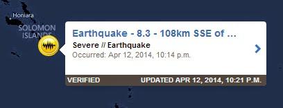 8,3-as földrengés a Salamon-szigetek mellett