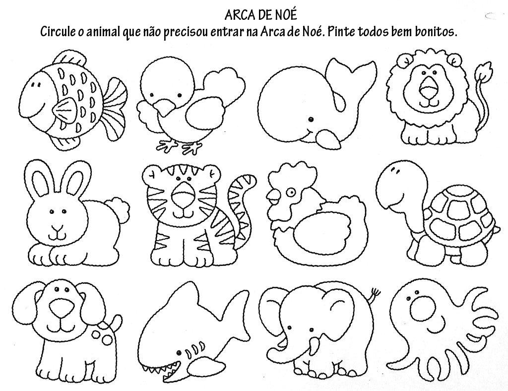 Desenhos Para Colorir Desenhar E Pintar Animais Para Colorir E