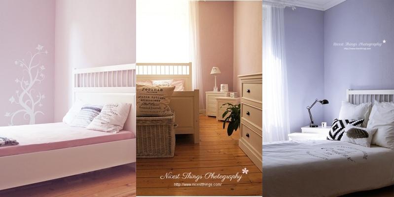 rosa Schlafzimmer blaues Schlafzimmer