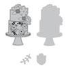 Sizzix Framelits Die Set 3PK w/Stamp - Floral Cake