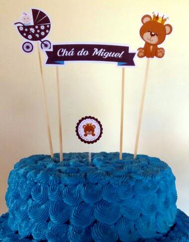 Baby Bear Prince Free Printable Cake Toppers.