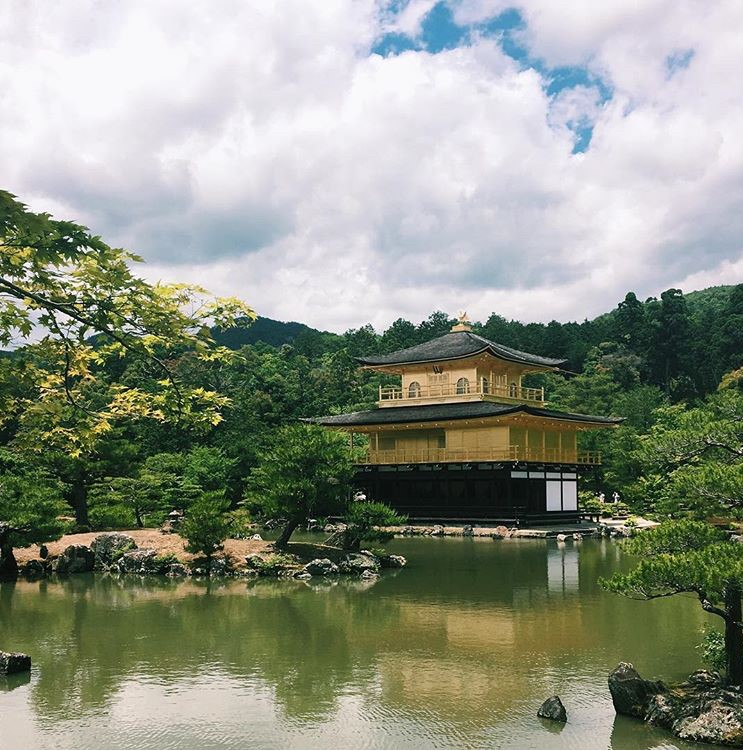 The Zen temple Kinkaku-ji aka. Golden Pavillion in Kyoto, Japan.
