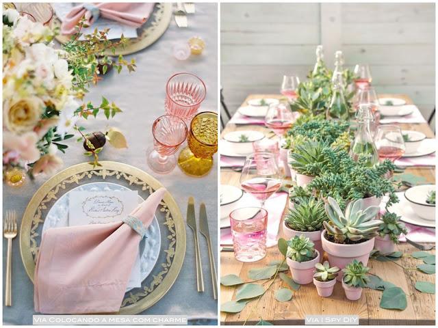 mesa de festa rosa