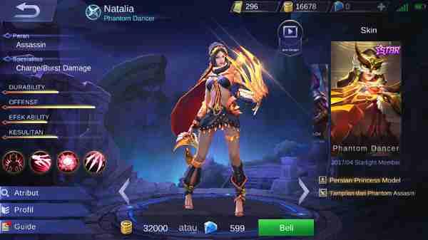 Tips Menggunakan Hero Natalia Mobile Legend, Si Pencyduk Tak Kasap Mata