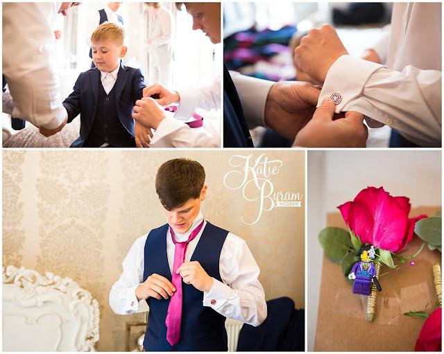 lego wedding, leggo buttonhole, woodhill hall, northumberland wedding venue, woodhill hall wedding photographs, woodland wedding, otterburn wedding, katie byram photography,